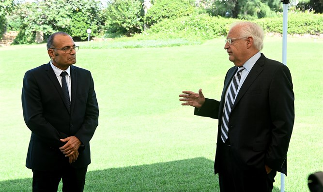 Ambassador Friedman with his interviewer Prof. Uzi Rabbi